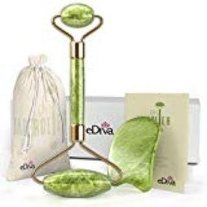 eDiva Natural Jade Roller Reduces Wrinkles